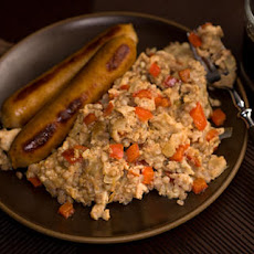 Groats and Bell Pepper Scramble