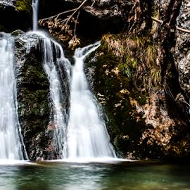 Waterfall by Hlias Vog - Landscapes Forests ( greece, hlias vog, olympos )