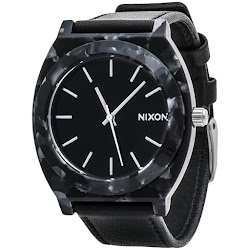 Nixon Time Teller Acetate Watch - Leather Band (For Men)