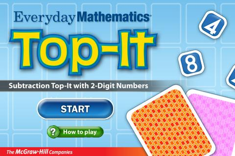 Everyday Math Subtract Top-It