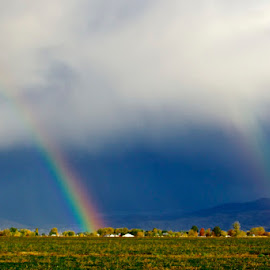 Double rainbow by Vern Tunnell - Landscapes Weather