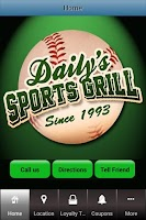 Screenshot of Daily's Sports Grill