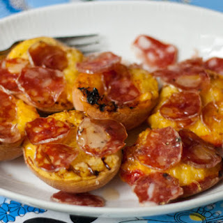 Grilled Peaches and Salami
