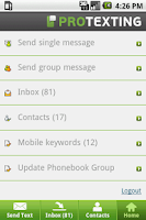 Screenshot of ProTexting.com - Group Texting
