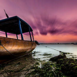 Facing towards the new horizon by Ade Irgha - Transportation Boats ( clouds, explore bali, seascape, sunrise, boat )