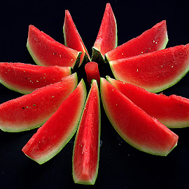 Watermelon Star. by Andrew Piekut - Food & Drink Fruits & Vegetables