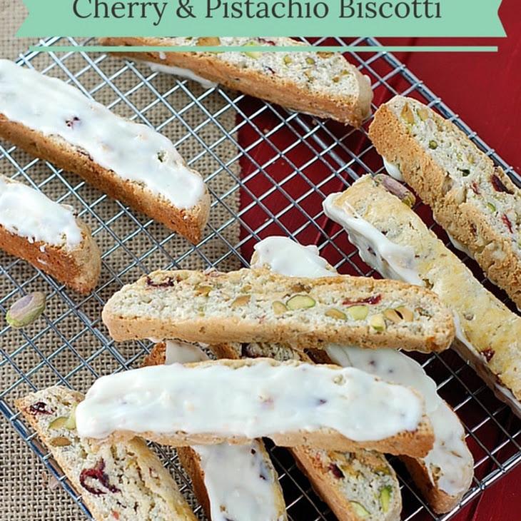 Dried Cherry and Pistachio Biscotti with White Chocolate Recipe ...