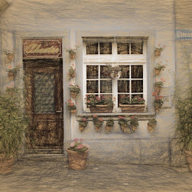 Lucern Charm by Dennis Granzow - Digital Art Places ( digital art, digital drawing, switzerland, lucern, travel )