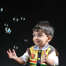 playful  by Prince Ravi - Babies & Children Toddlers ( bubbles, cute boy, boy, kid )