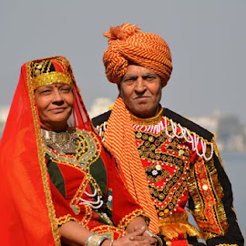 king & queen of their life  by Sethi Kc - People Couples ( king & queen of their life, red, green )