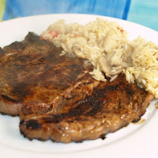 Rib Eye Steaks With Soy And Ginger Marinade