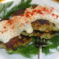 Latkes with salmon and dill rémoulade