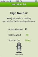 Screenshot of Nutrition Pal
