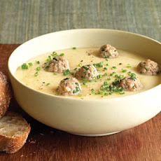 Root Vegetable Soup with Meatballs
