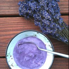 Blueberry And Lavender Ice Cream