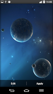 Space Planets Live Wallpaper - screenshot