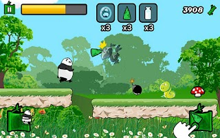 Screenshot of Parkour Panda Running Panda
