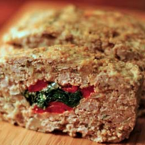Stuffed Meatloaf With Spinach And Red Bell Pepper Recipe — Dishmaps
