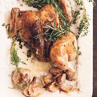 Roast Chicken with Rosemary-Garlic Paste