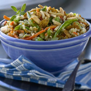 Chopped Vegetable and Rice Salad with Lemon Dressing