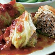 Stuffed Cabbage with Cranberry Sauce