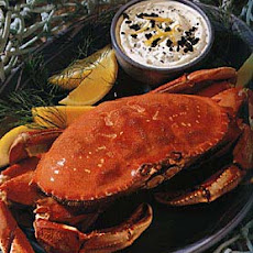 Cracked Crab with Caviar Dipping Sauce
