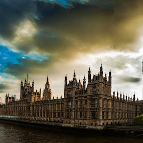 House of Parliament by Dragos Birtoiu - Buildings & Architecture Public & Historical ( water, clouds, palace,  )
