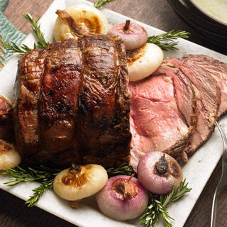 Rosemary Rib Roast with Cipollini