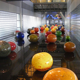 Glass balls. by Esther Van De Belt - Artistic Objects Glass ( orange, walls, balls, art, glass, yellow,  )