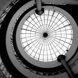 Round and Round by Christopher Solomon Raj - Buildings & Architecture Office Buildings & Hotels ( terrace, building, glass, shopping, mall )