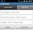 Screenshot of Lacak Paket