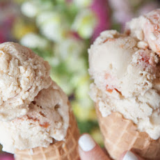Peach Streusel Ice Cream
