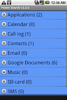 Screenshot of Power Search