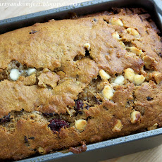 Cranberry- White Chocolate Banana Bread