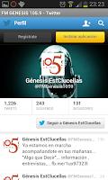 Screenshot of FM Génesis 105.9