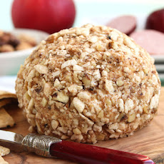 Cinnamon Apple Walnut Goat Cheese Ball