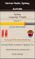 Screenshot of Harman Radio, Sydney,Australia