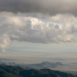 Untitled #2 by Manan Tevosyan-Martin - Landscapes Cloud Formations ( clouds, hills, mountains, horizon, valley )