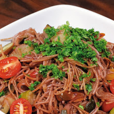 Michael Natkin's Peppery Absorption-Cooked Red-Wine Capellini