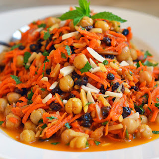 Moroccan Carrot Salad with Citrus, Mint & Almonds