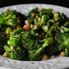 Roasted Broccoli with Cashews, Cumin and Ghee