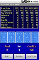 Screenshot of Free Old School Video Poker