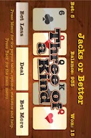 Screenshot of Wild West Video Poker Lite