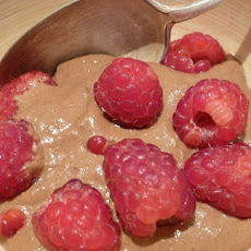Raw Chocolate and Raspberry Pudding