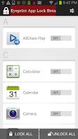 Screenshot of Eyeprint App Lock Beta