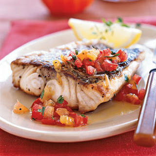 Striped Bass With Heirloom Tomato Scampi Recipes — Dishmaps