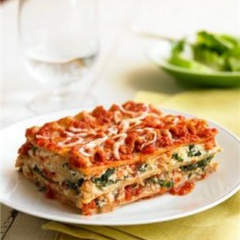 Three Cheese Spinach Lasagna