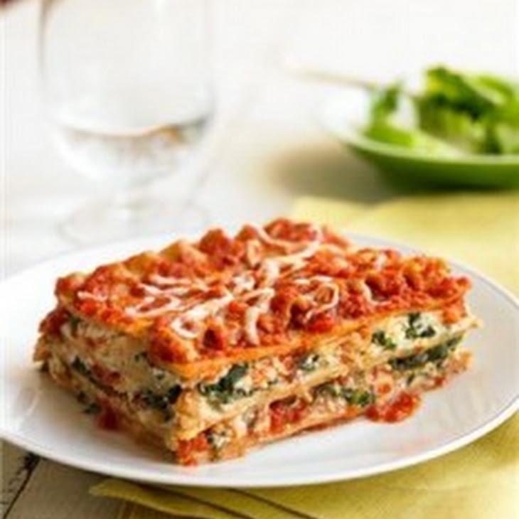 Three Cheese Spinach Lasagna Recipe | Yummly