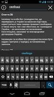 Screenshot of Constitution of Ukraine