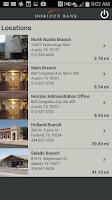 Screenshot of Horizon Bank Mobile App